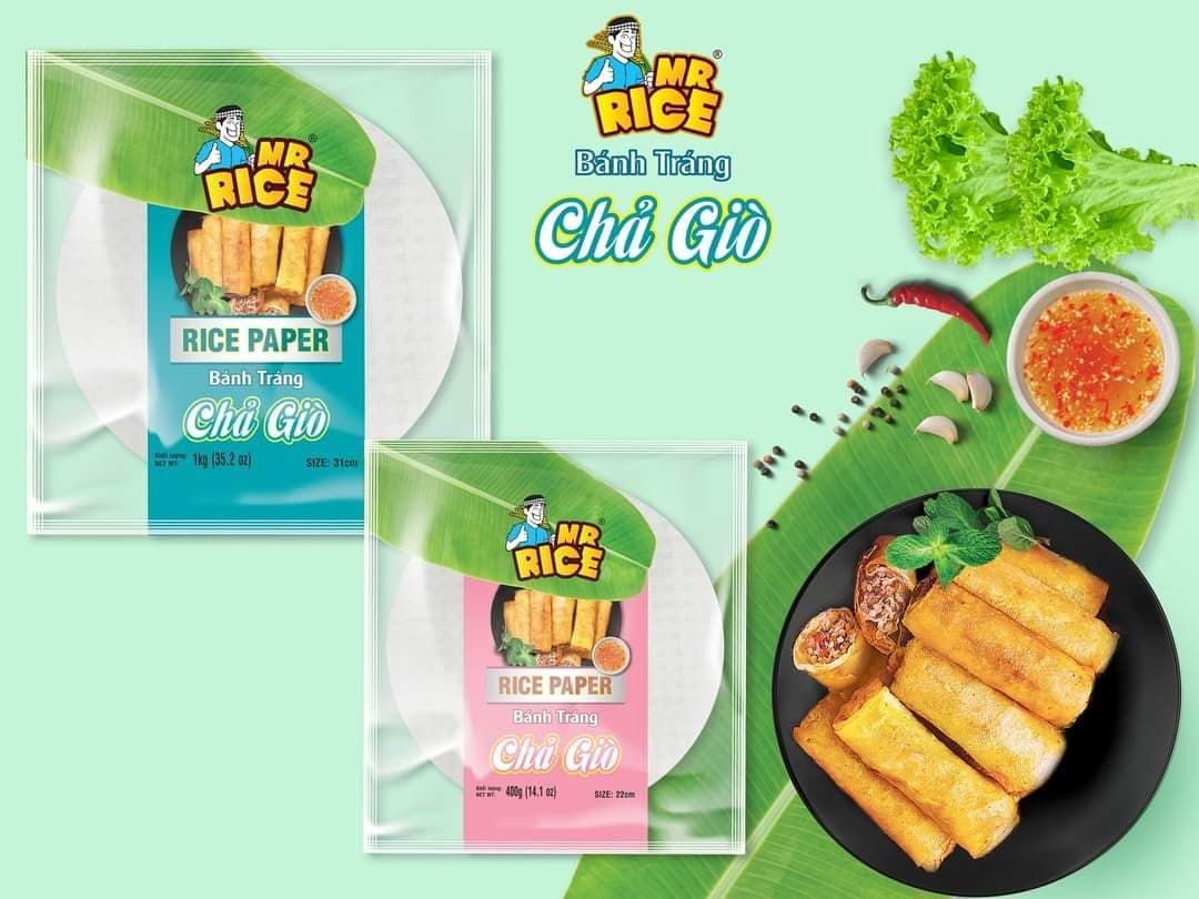 Rice paper (fried spring rolls/ cha gio) Duy Anh brand 22cm